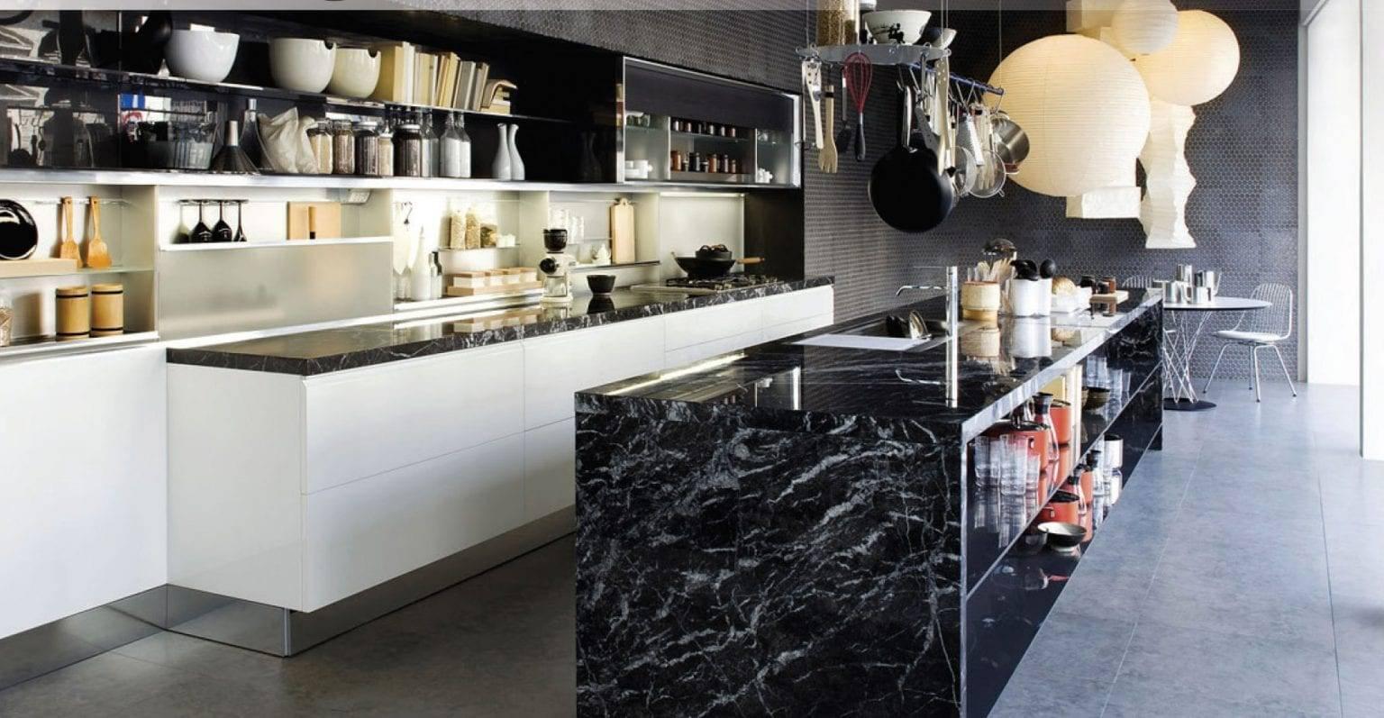 Black Sophistication Featured 1536x797, Primestones® Granite, Quartz, Marble